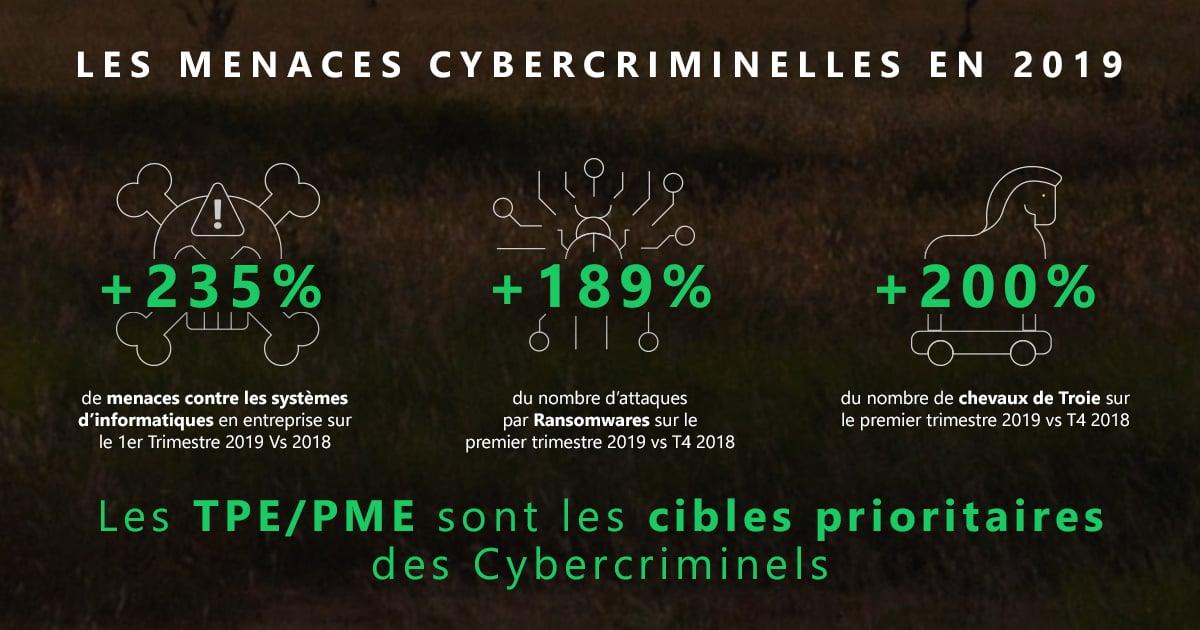 Infographie sur les Menaces Cybercriminelles 2019